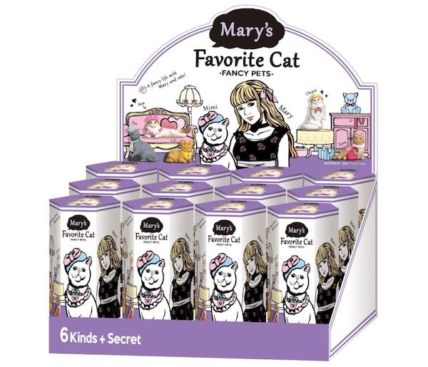 猫フィギュア「Mary's Favorite cat」の商品パッケージ