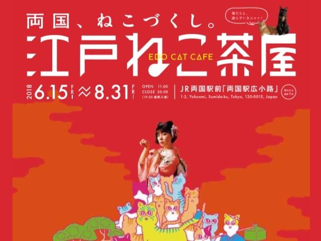 江戸の猫カフェがやってくる!浮世絵の世界で猫と遊べる 「江戸ねこ茶屋」