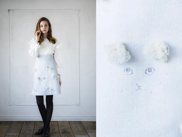 新ブランド「July(ジュラーイ)」から猫柄のコート&スカートが登場