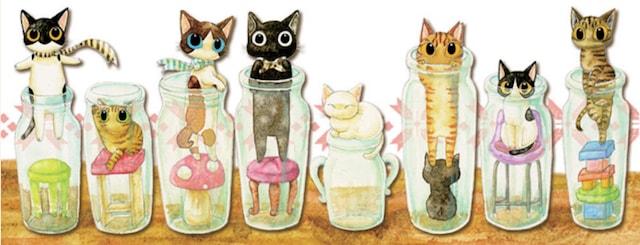 猫専門のイラストレーター「さとるこ」さんが描く猫キャラクターたち