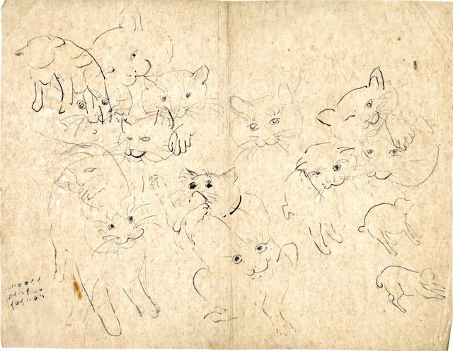 南方熊楠が描いたたくさんの猫 by 「熊楠と猫」展