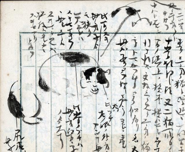 南方熊楠が描いたぶち猫の絵 by 「熊楠と猫」展