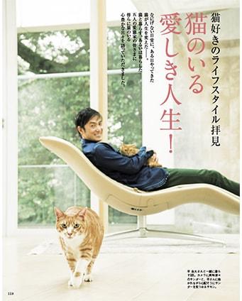 雑誌・家庭画報のネコ特集