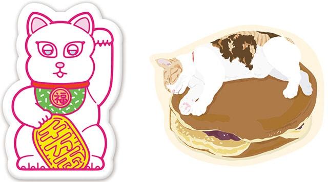 江戸ねこ茶屋のオリジナルグッズ(猫クッション)