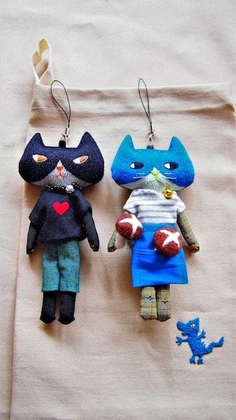 刺繍作家の「とりのこいろ」さんによる猫ドール作品3
