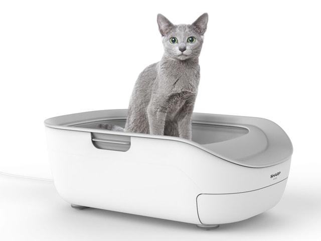 シャープの猫トイレ「ペットケアモニター」の使用イメージ