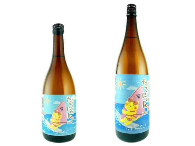 猫キャラたてにゃんの日本酒「純米大吟醸たてにゃんVol.6」1800mlと720mlのボトル