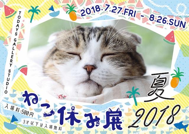 「ねこ休み展 夏 2018」のポスター
