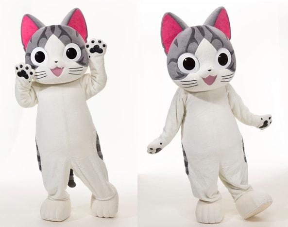 世界中で人気の猫アニメ「こねこのチー」のきぐるみ