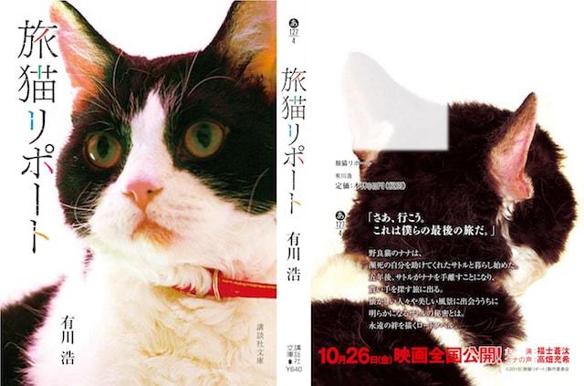 猫のナナがデザインされた表紙の小説、旅猫リポートのスペシャルバージョン