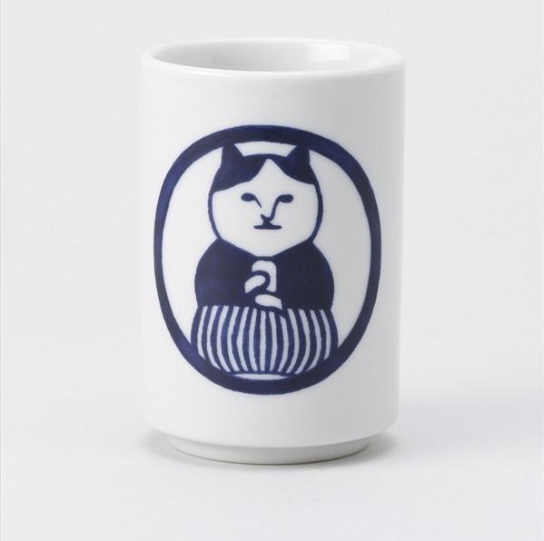 ねこ茶商の湯呑み