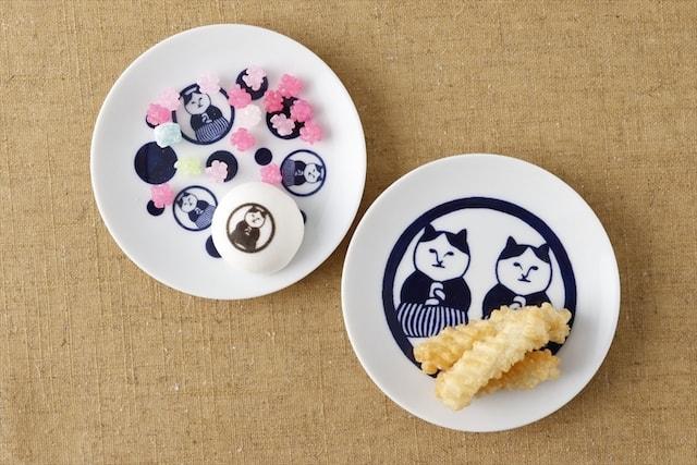 ねこ茶商の豆皿