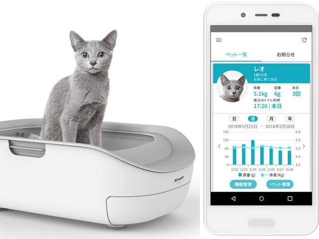 シャープからスマート猫トイレ「ペットケアモニター」が登場!個体識別も可能
