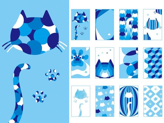 周南市の公式サイト、ネコや肉球など16種類のスマホ用壁紙を追加