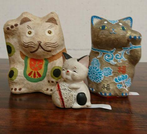 猫をモチーフにした骨董品