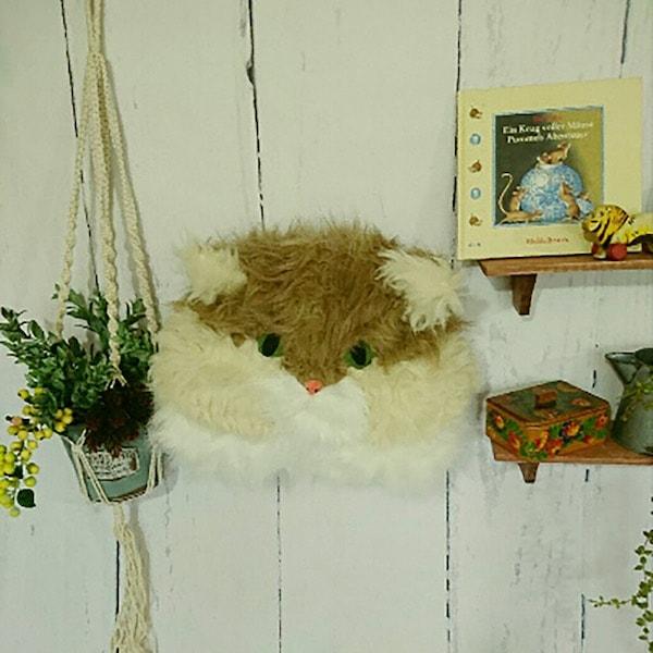 ペルシャ猫「ふーちゃん」の壁掛けヘッド