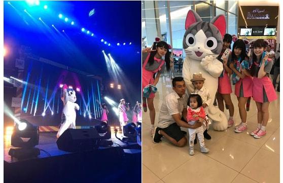 こねこのチーがAsia Comic Con 2018のステージに登場&来場者と記念撮影した様子