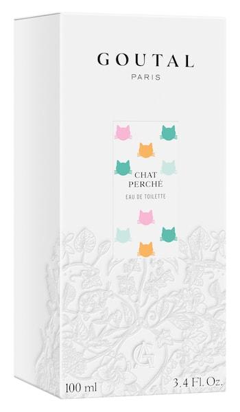 猫がデザインされた「シャ ペルシェ(CHAT PERCHÉ)」のパッケージ