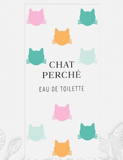 猫がデザインされた「シャ ペルシェ(CHAT PERCHÉ)」のパッケージ(拡大図)