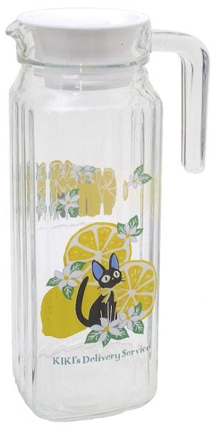 黒猫ジジのガラスピッチャー