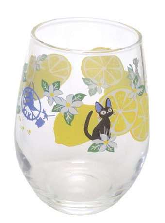 黒猫ジジのガラスタンブラー