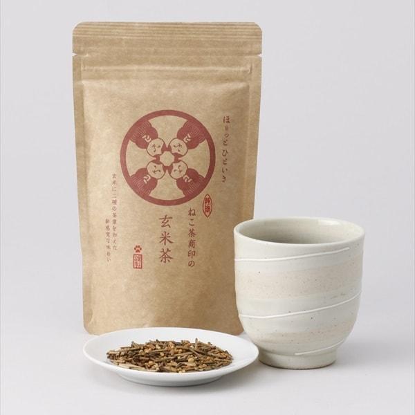 ねこ茶商、玄米茶の商品イメージ
