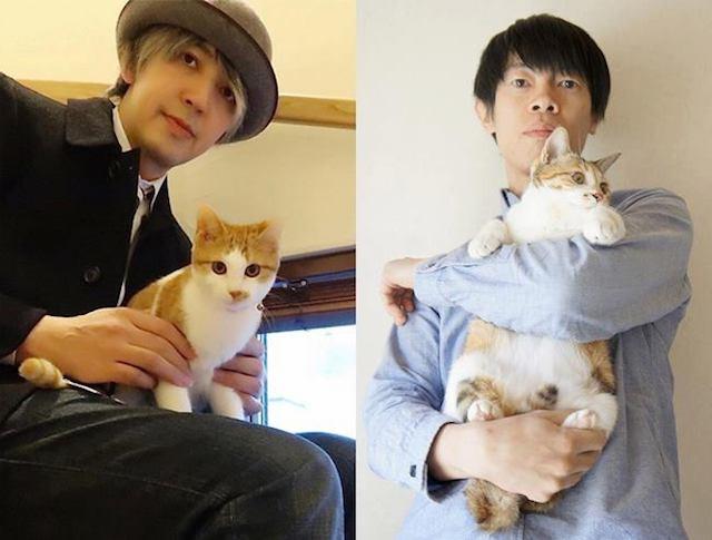 猫ミュージシャンの近藤研二さんと山田稔明さん