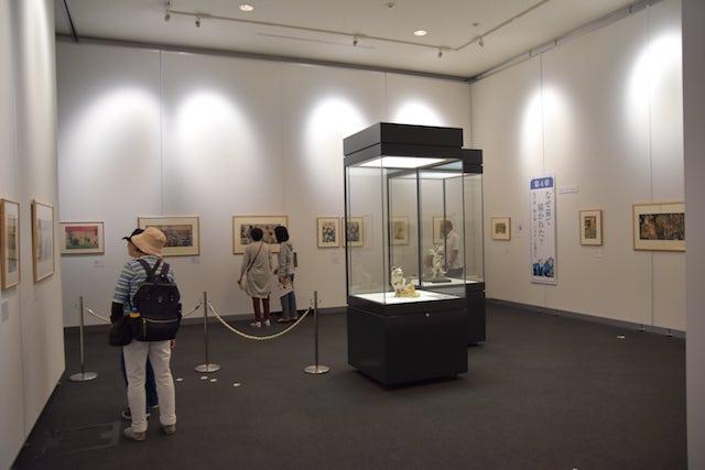 アートになった猫たち展 in 岡山シティミュージアムの会場風景
