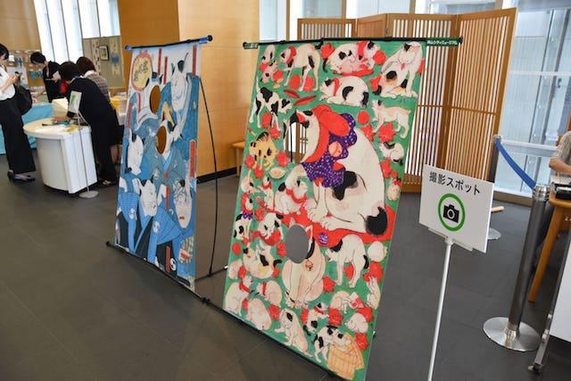 アートになった猫たち展 in 岡山シティミュージアムの撮影スポット