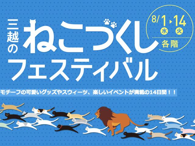 札幌三越の「猫づくしフェスティバル」岩合光昭さんの写真展も開催