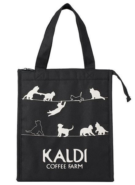 保冷仕様の猫デザインバッグ by カルディコーヒーファーム