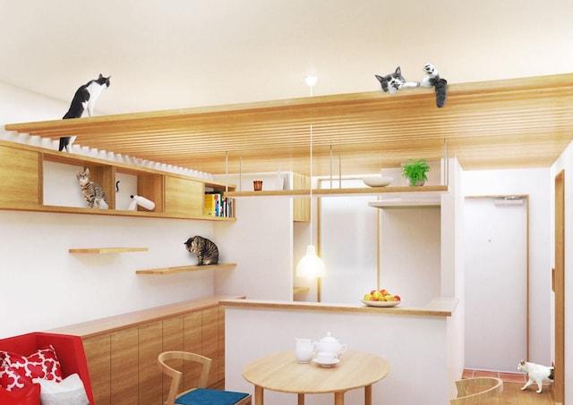 マイリノペットforねこのイメージ「家具と一体化したキャットスペース」