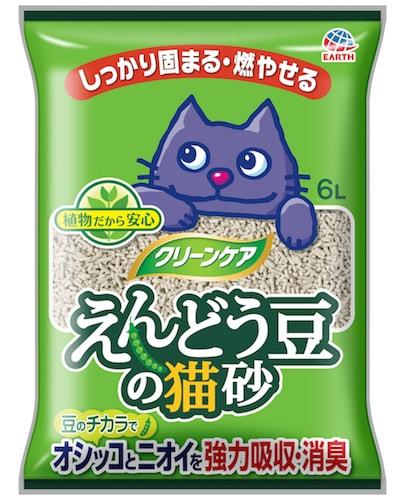 猫砂「クリーンケア えんどう豆の猫砂(無香タイプ)」のパッケージ