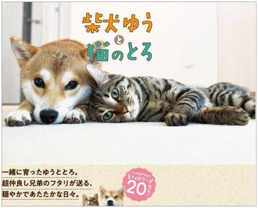 書籍「柴犬ゆうと猫のとろ」の表紙