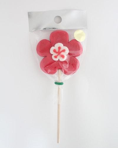 papabubble(パパブブレ)の梅の花 ロリポップ(棒付きキャンディ)