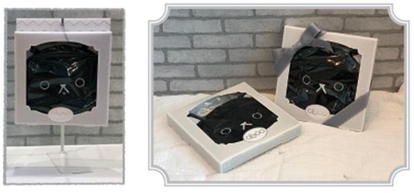 黒猫のお食事エプロン「aboo(アブー)のパッケージイメージ