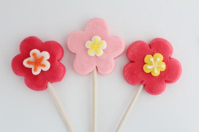 papabubble(パパブブレ)の梅の花 ロリポップ(棒付きキャンディ)3種
