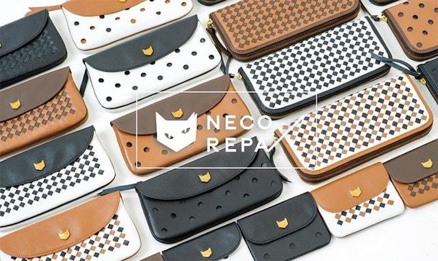猫デザインの革財布 by NECOREPA
