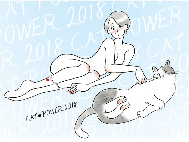 67名のイラストレーターが参加、猫のチャリティ展「CAT POWER 2018」