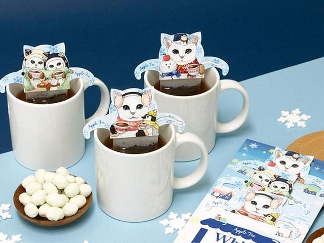 猫型ティーバッグ「キャットカフェ」から黒猫と白猫の新作フレーバーが登場