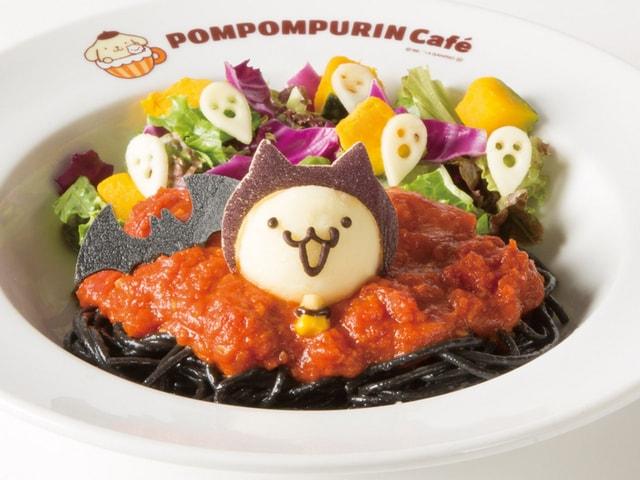 黒猫パスタも登場!ポムポムプリンカフェで9月からハロウィンメニューが発売