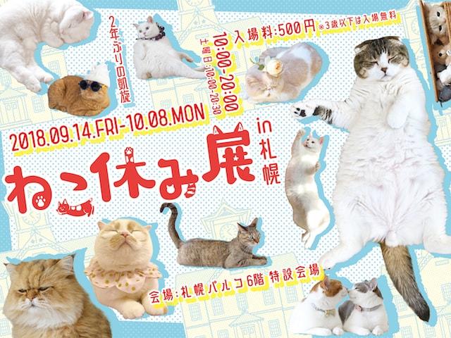 札幌で2年ぶりの開催「ねこ休み展」秋の巡回展が9/14〜からパルコで開催