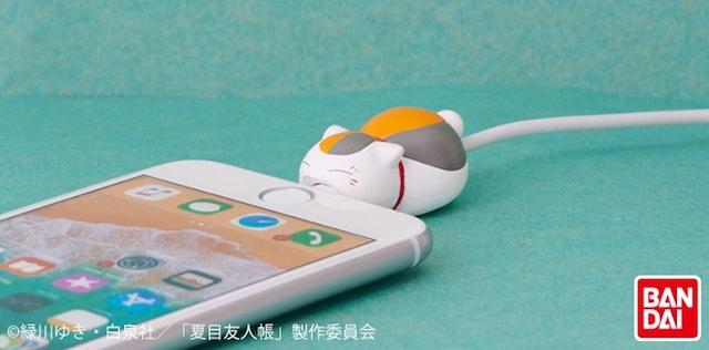 ニャンコ先生のiPhoneケーブル用のアクセサリー「CABLE BITE 夏目友人帳」