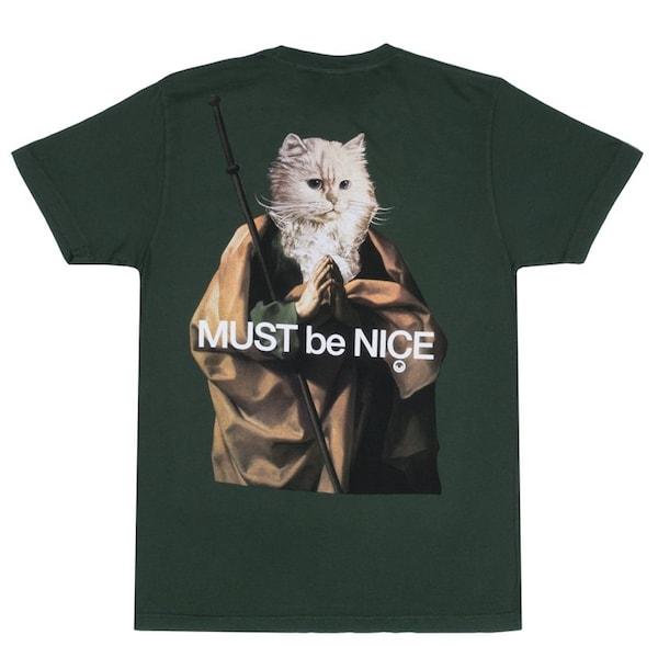 猫のTシャツ「Nermus Tee」 by RIPNDIP