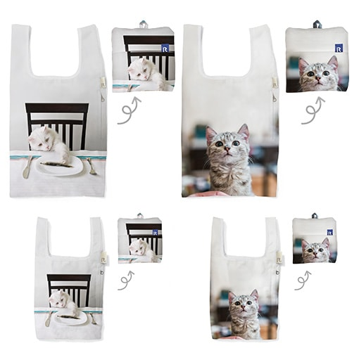 猫のルーショッパー アニマルプリント by ROOTOTE
