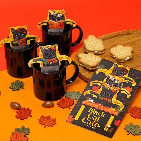 黒猫のティーバッグ「ブラックキャットカフェ」