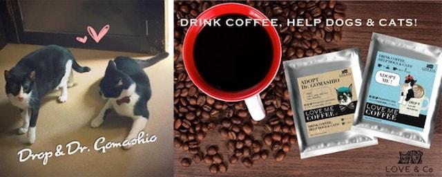 犬猫支援に繋がるLOVE & Co.のコーヒー