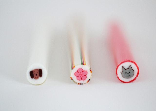 papabubble(パパブブレ)の千歳飴、犬・梅の花・猫デザイン