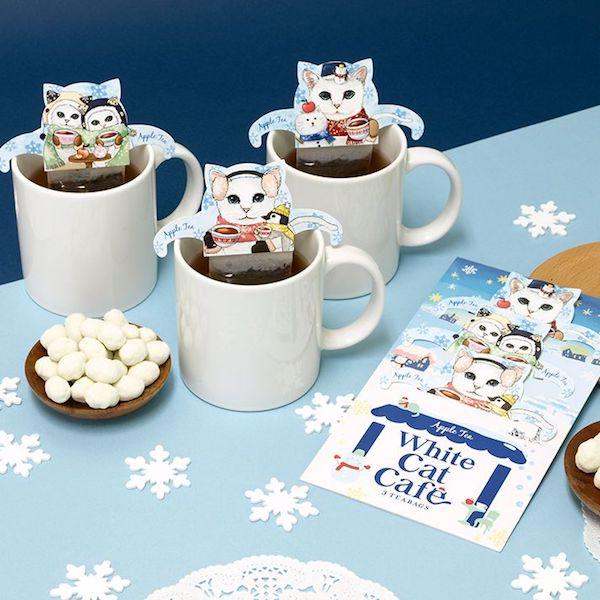 白猫のティーバッグ「ホワイトキャットカフェ」