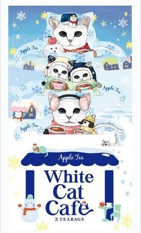 白猫のティーバッグ「ホワイトキャットカフェ」パッケージ写真